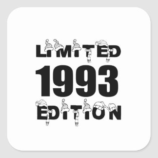 LIMITED 1993 EDITION BIRTHDAY DESIGNS SQUARE STICKER