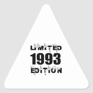 LIMITED 1993 EDITION BIRTHDAY DESIGNS TRIANGLE STICKER