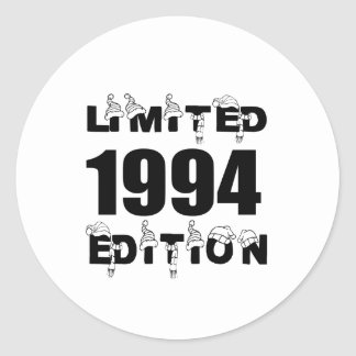 LIMITED 1994 EDITION BIRTHDAY DESIGNS CLASSIC ROUND STICKER