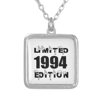 LIMITED 1994 EDITION BIRTHDAY DESIGNS SILVER PLATED NECKLACE
