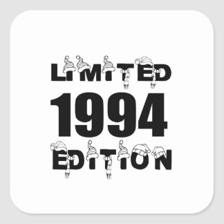 LIMITED 1994 EDITION BIRTHDAY DESIGNS SQUARE STICKER