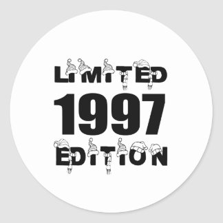 LIMITED 1997 EDITION BIRTHDAY DESIGNS CLASSIC ROUND STICKER