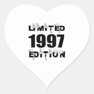 LIMITED 1997 EDITION BIRTHDAY DESIGNS HEART STICKER