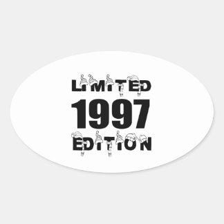 LIMITED 1997 EDITION BIRTHDAY DESIGNS OVAL STICKER