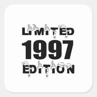 LIMITED 1997 EDITION BIRTHDAY DESIGNS SQUARE STICKER