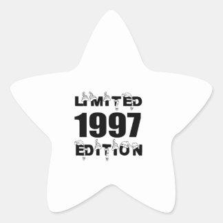 LIMITED 1997 EDITION BIRTHDAY DESIGNS STAR STICKER