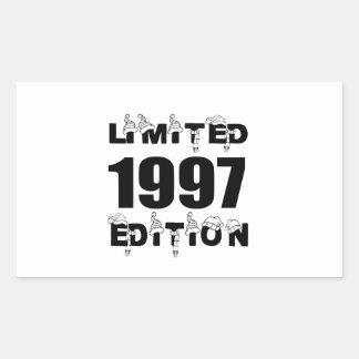 LIMITED 1997 EDITION BIRTHDAY DESIGNS STICKER