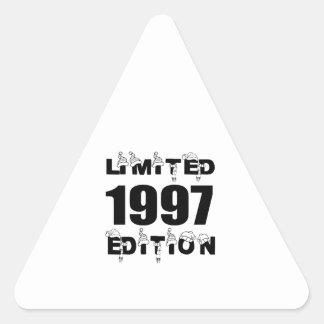 LIMITED 1997 EDITION BIRTHDAY DESIGNS TRIANGLE STICKER