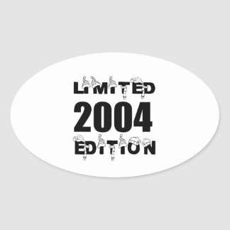 LIMITED 2004 EDITION BIRTHDAY DESIGNS OVAL STICKER