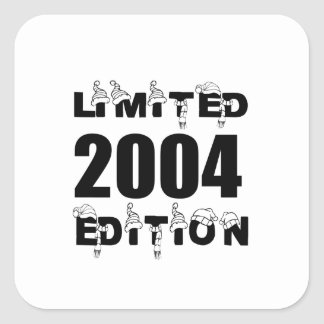 LIMITED 2004 EDITION BIRTHDAY DESIGNS SQUARE STICKER