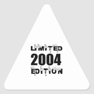 LIMITED 2004 EDITION BIRTHDAY DESIGNS TRIANGLE STICKER