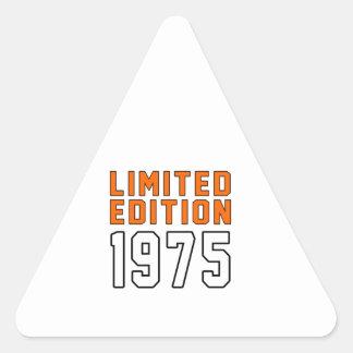 Limited Edition 40 Birthday Designs Triangle Sticker