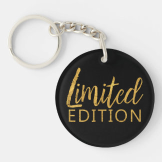 Limited Edition Gold Double-Sided Round Acrylic Keychain
