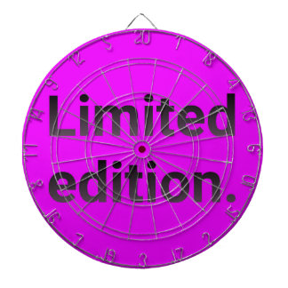 Limited edition in bright pink. dartboard
