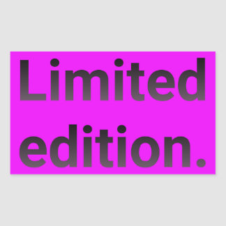Limited edition in bright pink. sticker