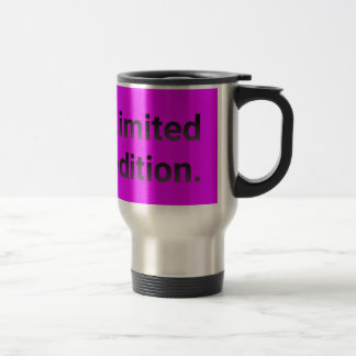 Limited edition in bright pink. travel mug