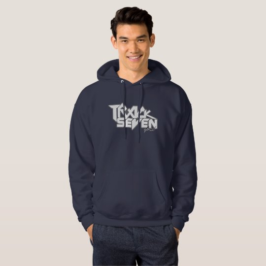 "Limited Edition Navy ""7"" Logo Hoodie by TSB"
