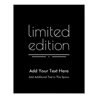 Limited Edition - You Are One of a Kind Poster