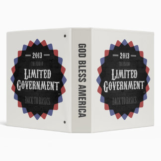 Limited Government 2013 Vinyl Binder