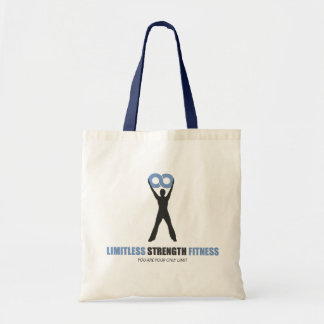 Limitless Strength Fitness tote bag