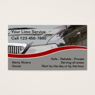 Limo Service Business Cards