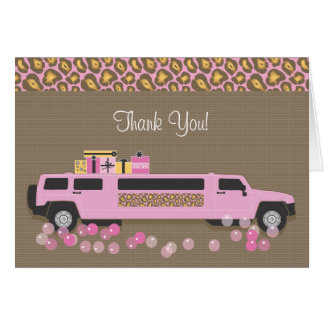 Limo Thank You Card