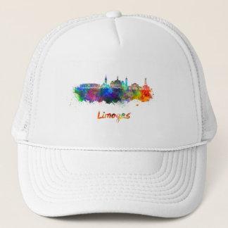 Limoges skyline in watercolor trucker hat