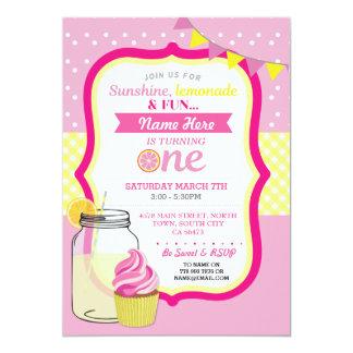 Limonade rose d'abord un ęr invitation de fête