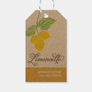 Limoncello Gift Tag, favor tag, hanging tag Pack Of Gift Tags