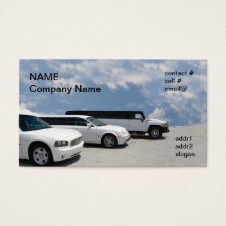 limos parked business card