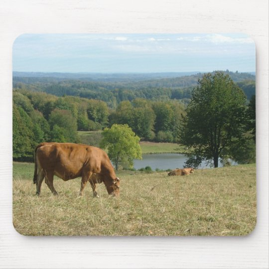 Limousin cattle in the Creuse Mouse Pad
