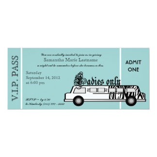 Limousine Bachelorette Party Pass Card