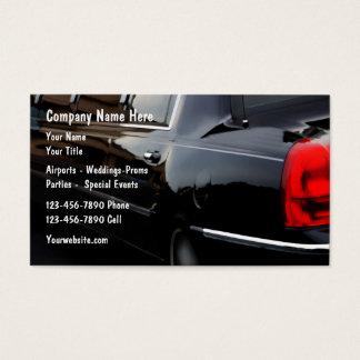 Limousine Car Service Business Cards
