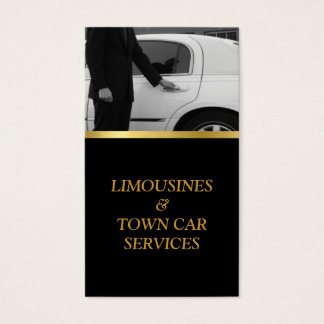 Limousine, Limo, Town Card, Driver Service Business Card
