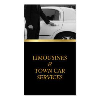 Limousine, limousine, carte de ville, service de carte de visite standard