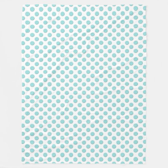 Limpet Shell Aqua Blue Polka Dots Fleece Blanket