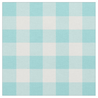 Limpet Shell Aqua & White Gingham Check Fabric