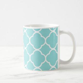 Limpet Shell Blue  Quatrefoil Coffee Mug