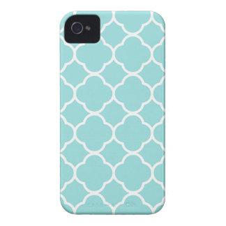 Limpet Shell Blue  Quatrefoil iPhone 4 Case-Mate Case
