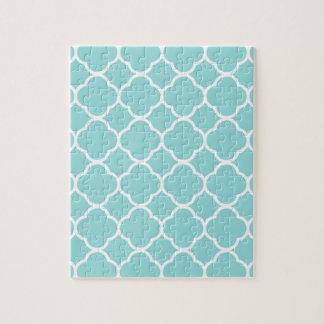 Limpet Shell Blue  Quatrefoil Jigsaw Puzzle
