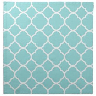 Limpet Shell Blue  Quatrefoil Napkin