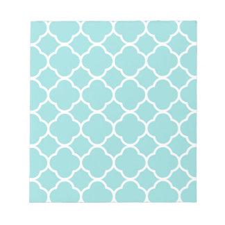 Limpet Shell Blue  Quatrefoil Notepad