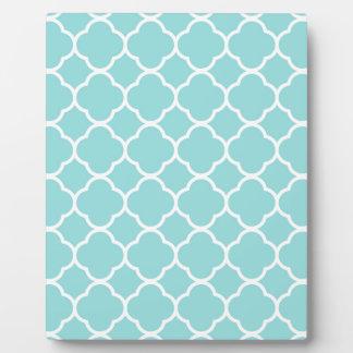 Limpet Shell Blue  Quatrefoil Plaque