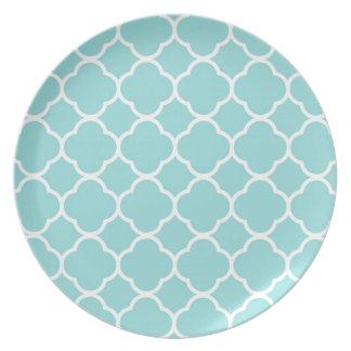 Limpet Shell Blue  Quatrefoil Plate