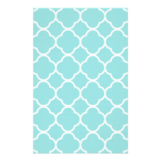Limpet Shell Blue  Quatrefoil Stationery