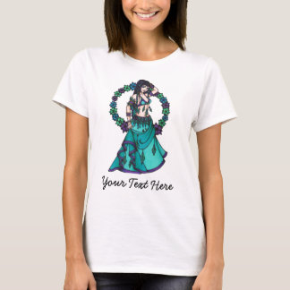 Lina Flower Goddess Belly Dancer Art T-Shirt