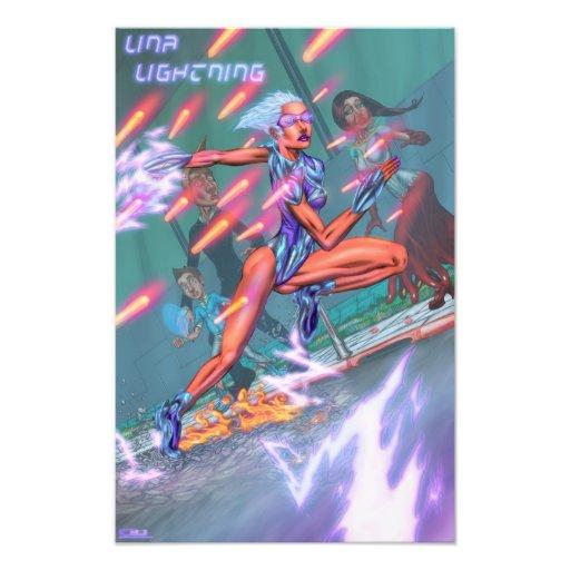 Lina Lightning Debut Poster (kodak) Photographic Print