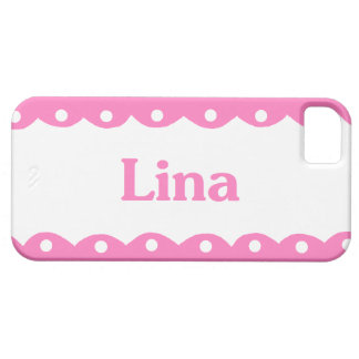 Lina Name Pink Lace iPhone 5 Case