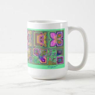 Lina s Garden Floral Abstract Mug