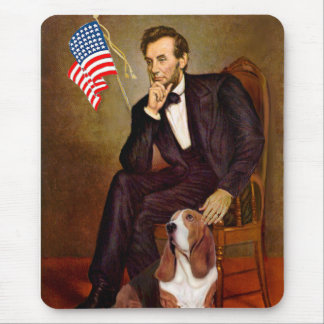 Lincoln and Basset #2 Mouse Pad